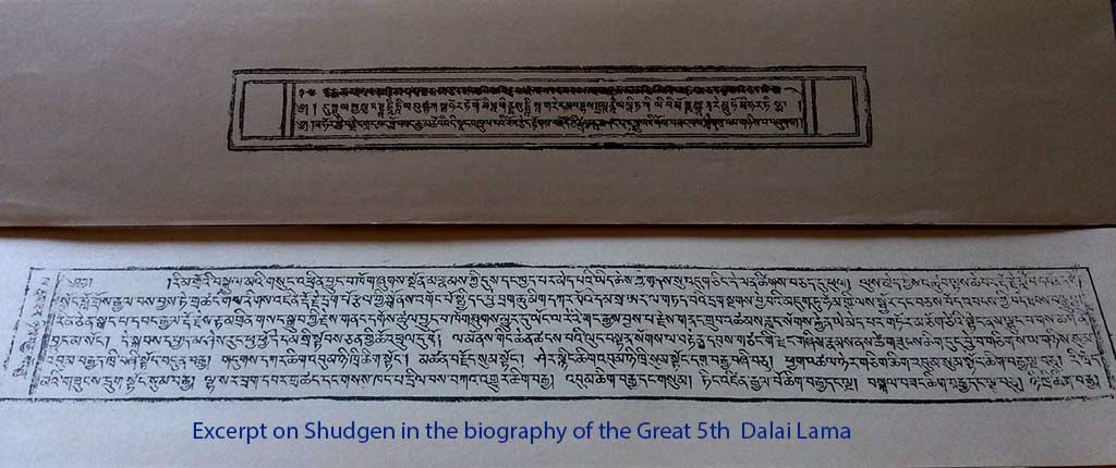 Excerpt on Shugden in the biography of the Great 5th Dalai Lama