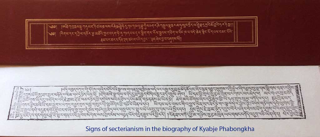 Signs of secterianism in the biography of Kyabje Phabongkha
