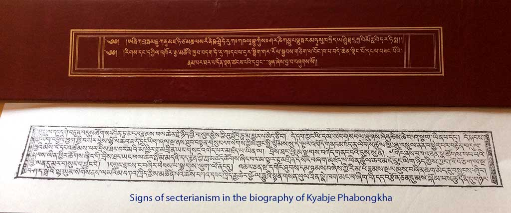 Signs of sectarianism in the biography of Kyabje Phabongkha